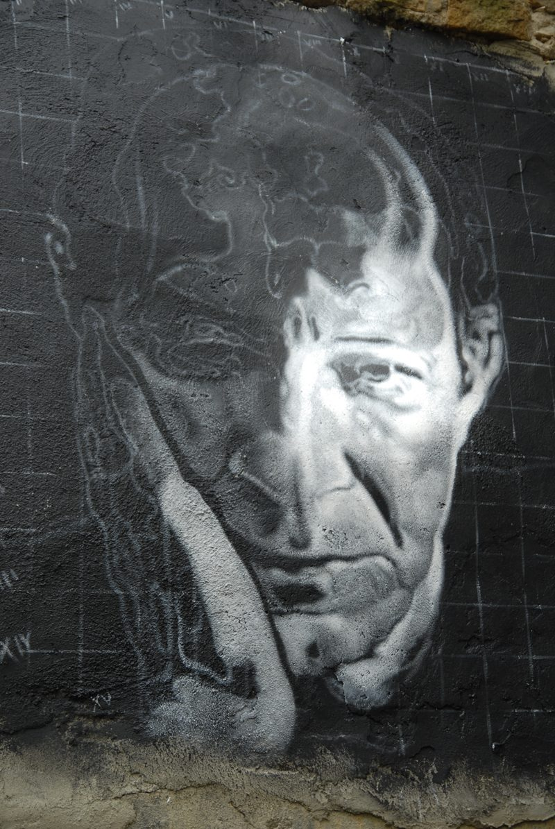 Thierry Ehrmann: Giorgio Agamben Portrait von Giorgio Agamben, Demeure du Chaos, Saint-Romain-au-Mont-d'Or, Frankreich